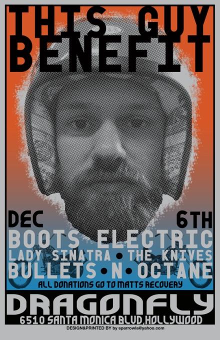 Michael Hamel Benefit poster